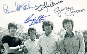 beatles photo autograph