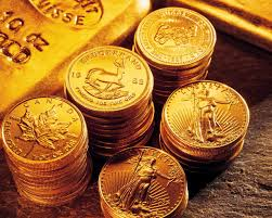 gold bullion display