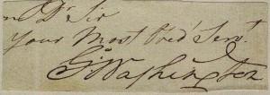 wahington autograph